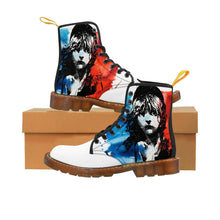 Les Miserables Cosette And French Flag - Mens Martin Boots Brown / Us 10 Men Shoes Shoes