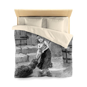 Les Miserables Cosette - Microfiber Duvet Cover Queen / Cream Home Decor
