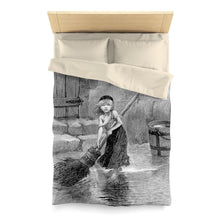 Les Miserables Cosette - Microfiber Duvet Cover Twin / Cream Home Decor