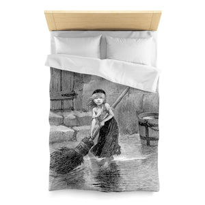 Les Miserables Cosette - Microfiber Duvet Cover Twin / White Home Decor