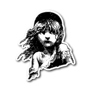 Les Miserables Cosette Sticker Sticker Stickers