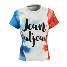 Les Miserables Jean Valjean And French Flag - Womens Tee 4 Oz. / White Seams / L Women All Over Prints