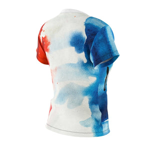 Les Miserables Jean Valjean And French Flag - Womens Tee Women All Over Prints