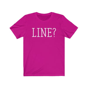 Line - Unisex Jersey Short Sleeve Tee Berry / Xs Men Women T-Shirt