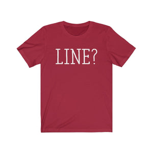Line - Unisex Jersey Short Sleeve Tee Canvas Red / Xs Men Women T-Shirt