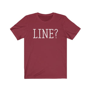 Line - Unisex Jersey Short Sleeve Tee Cardinal / Xs Men Women T-Shirt