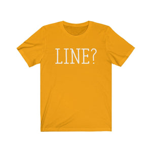 Line - Unisex Jersey Short Sleeve Tee Gold / Xs Men Women T-Shirt