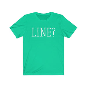 Line - Unisex Jersey Short Sleeve Tee Teal / Xs Men Women T-Shirt