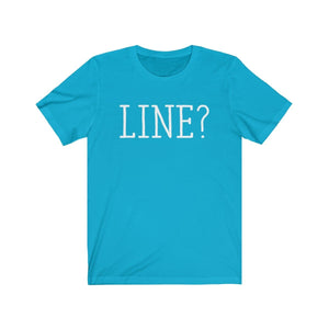 Line - Unisex Jersey Short Sleeve Tee Turquoise / Xs Men Women T-Shirt