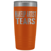 Makeup Artist Tears - 20oz Stainless Steel Insulated Tumblers Orange Tumblers