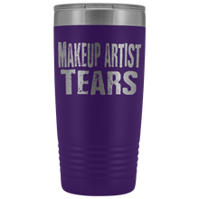 Makeup Artist Tears - 20oz Stainless Steel Insulated Tumblers Purple Tumblers