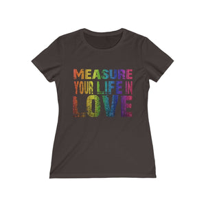 Measure Your Life In Love (Rent) - Womens Missy Tee Black / L Women T-Shirt