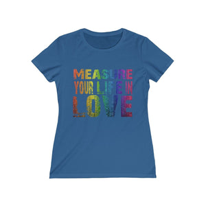 Measure Your Life In Love (Rent) - Womens Missy Tee Royal / S Women T-Shirt