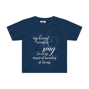 My Heart Wants To Sing Every Musical Number It Hears - Kids Tee Navy / 2T Clothes
