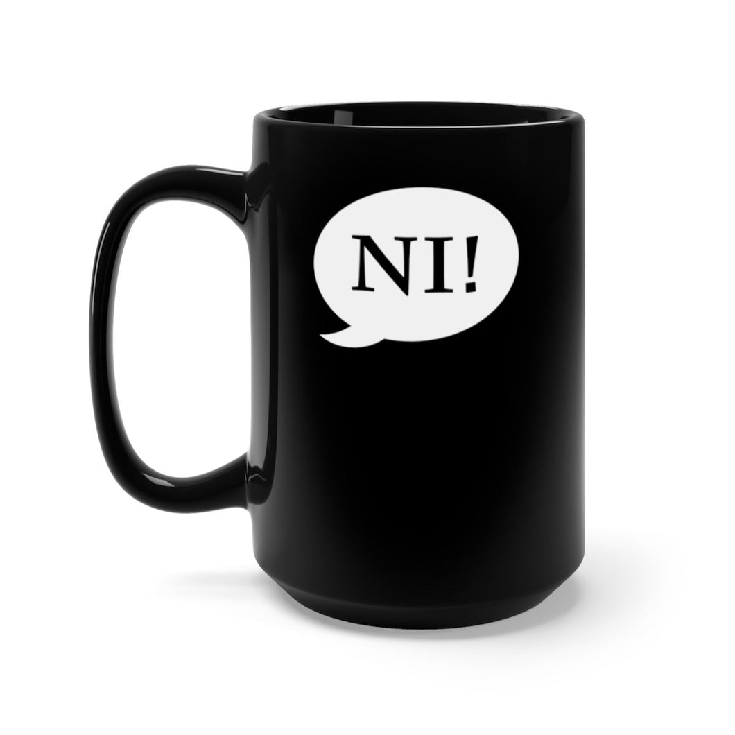 Ni! Speech Bubble (Spamalot) - Black 15Oz Mugs 15Oz Mug