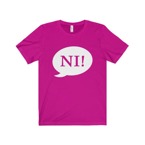 Ni! Speech Bubble (Spamalot) - Unisex Jersey Short Sleeve Tee Berry / Xs Men Women T-Shirt