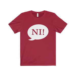 Ni! Speech Bubble (Spamalot) - Unisex Jersey Short Sleeve Tee Canvas Red / Xs Men Women T-Shirt