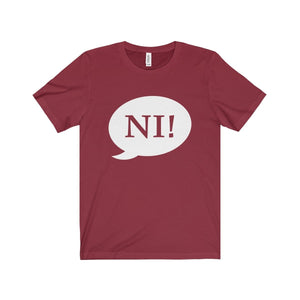 Ni! Speech Bubble (Spamalot) - Unisex Jersey Short Sleeve Tee Cardinal / Xs Men Women T-Shirt