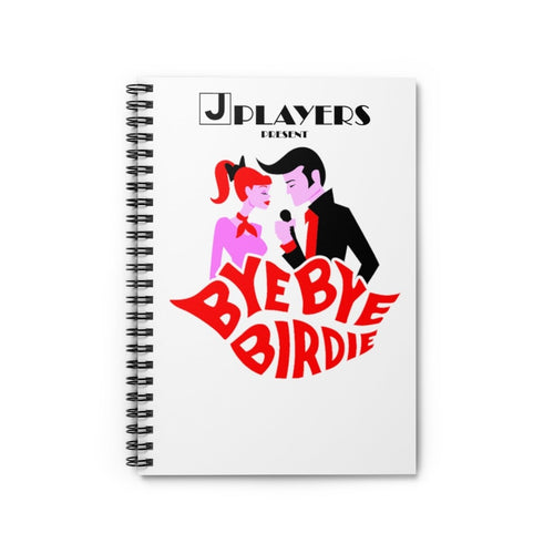 Organization (JPLAY) - The J Players Bye Bye Birdie Ruled Line Spiral Notebook Spiral Notebook Paper products