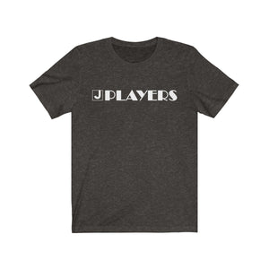 Organization (JPLAY) - The J Players Large Logo Dark Unisex Jersey Short Sleeve Tee Black Heather / XS Men Women T-Shirt