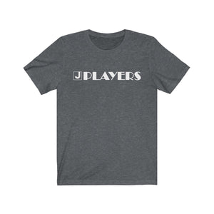 Organization (JPLAY) - The J Players Large Logo Dark Unisex Jersey Short Sleeve Tee Dark Grey Heather / XS Men Women T-Shirt