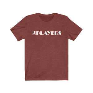 Organization (JPLAY) - The J Players Large Logo Dark Unisex Jersey Short Sleeve Tee Heather Clay / XS Men Women T-Shirt