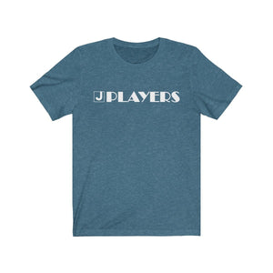 Organization (JPLAY) - The J Players Large Logo Dark Unisex Jersey Short Sleeve Tee Heather Deep Teal / S Men Women T-Shirt