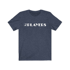 Organization (JPLAY) - The J Players Large Logo Dark Unisex Jersey Short Sleeve Tee Heather Midnight Navy / XS Men Women T-Shirt