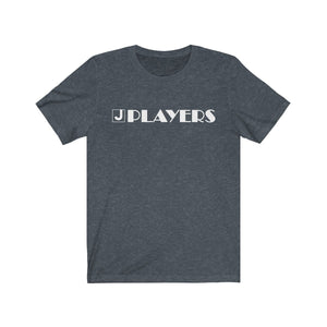 Organization (JPLAY) - The J Players Large Logo Dark Unisex Jersey Short Sleeve Tee Heather Navy / XS Men Women T-Shirt