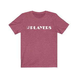 Organization (JPLAY) - The J Players Large Logo Dark Unisex Jersey Short Sleeve Tee Heather Raspberry / XS Men Women T-Shirt