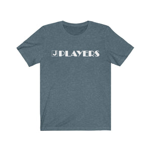 Organization (JPLAY) - The J Players Large Logo Dark Unisex Jersey Short Sleeve Tee Heather Slate / XS Men Women T-Shirt
