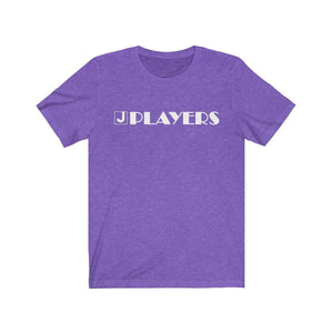 Organization (JPLAY) - The J Players Large Logo Dark Unisex Jersey Short Sleeve Tee Heather Team Purple / XS Men Women T-Shirt