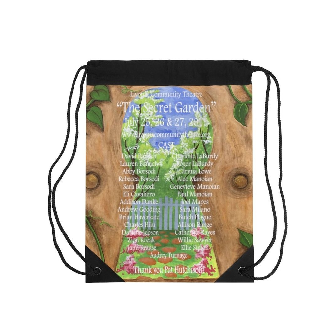 Organization (LCT) - Livonia Community Theatre The Secret Garden Drawstring Bag One Size Bags