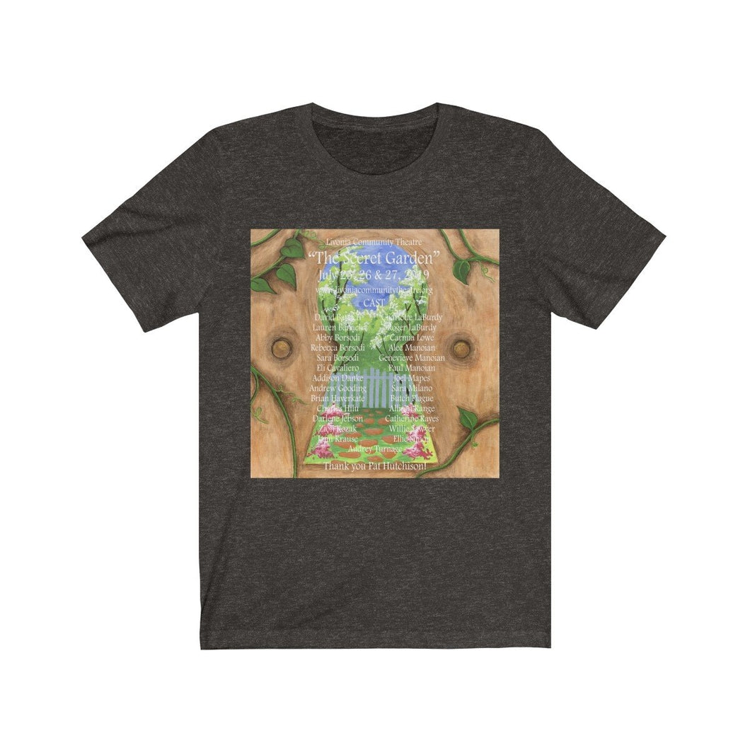 Organization (LCT) - Livonia Community Theatre The Secret Garden Unisex Jersey Short Sleeve Tee Black Heather / L Men Women T-Shirt