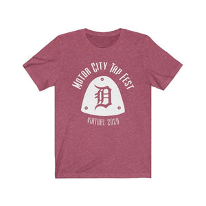 Organization (MCTF) - Motor City Tap Fest 2020 Big Tap Unisex Jersey Short Sleeve Navy Tee