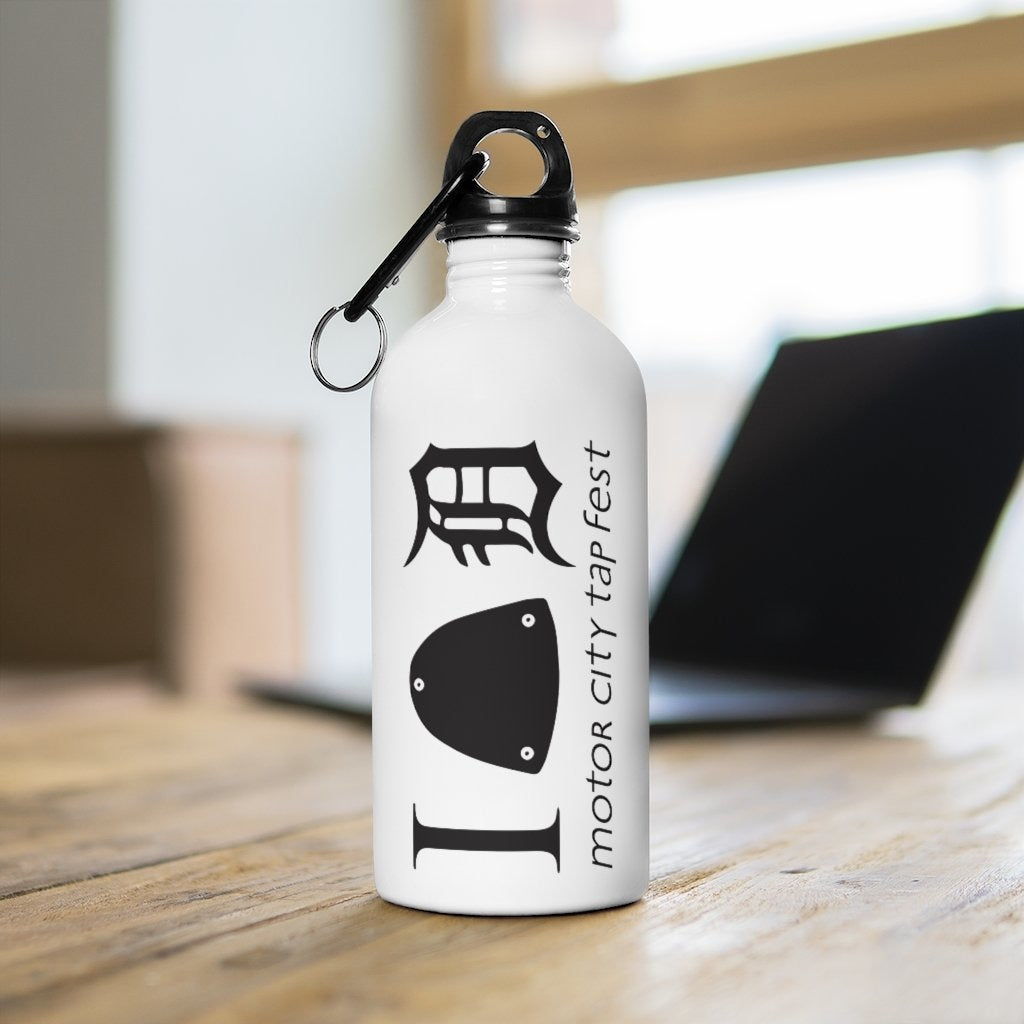 Organization (MCTF) - Organization (MCTF) - Motor City Tap Fest Heart Detroit Stainless Steel Water Bottle