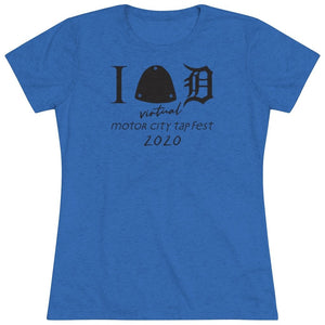 Organization (MCTF) - Motor City Tap Fest Heart Detroit Women's Triblend Tee