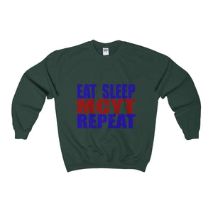 "Organization (MCYT) ""Eat Sleep MYCT Repeat"" - Unisex Heavy Blend™ Crewneck Sweatshirt - Theatre Geek Shirts & Apparel"