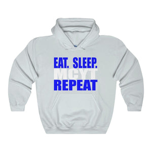 Organization (Mcyt) - Eat Sleep Mcyt Repeat - Unisex Heavy Blend Hooded Sweatshirt Ash / S Hoodie