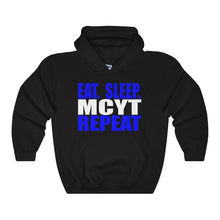Organization (Mcyt) - Eat Sleep Mcyt Repeat - Unisex Heavy Blend Hooded Sweatshirt Black / S Hoodie