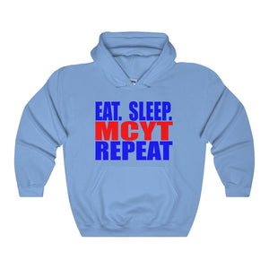 Organization (Mcyt) - Eat Sleep Mcyt Repeat - Unisex Heavy Blend Hooded Sweatshirt Carolina Blue / S Hoodie