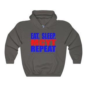 Organization (Mcyt) - Eat Sleep Mcyt Repeat - Unisex Heavy Blend Hooded Sweatshirt Charcoal / S Hoodie