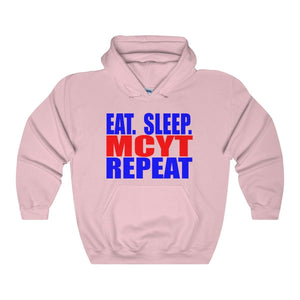 Organization (Mcyt) - Eat Sleep Mcyt Repeat - Unisex Heavy Blend Hooded Sweatshirt Light Pink / S Hoodie