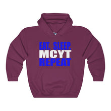 Organization (Mcyt) - Eat Sleep Mcyt Repeat - Unisex Heavy Blend Hooded Sweatshirt Maroon / S Hoodie