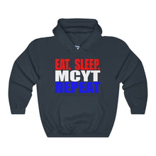Organization (Mcyt) - Eat Sleep Mcyt Repeat - Unisex Heavy Blend Hooded Sweatshirt Navy / S Hoodie