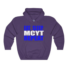 Organization (Mcyt) - Eat Sleep Mcyt Repeat - Unisex Heavy Blend Hooded Sweatshirt Purple / S Hoodie