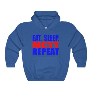 Organization (Mcyt) - Eat Sleep Mcyt Repeat - Unisex Heavy Blend Hooded Sweatshirt Royal / S Hoodie