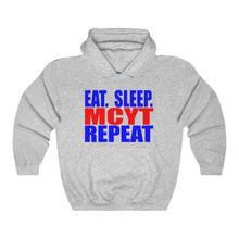 Organization (Mcyt) - Eat Sleep Mcyt Repeat - Unisex Heavy Blend Hooded Sweatshirt Sport Grey / S Hoodie
