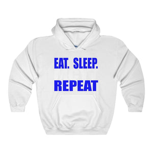 Organization (Mcyt) - Eat Sleep Mcyt Repeat - Unisex Heavy Blend Hooded Sweatshirt White / S Hoodie