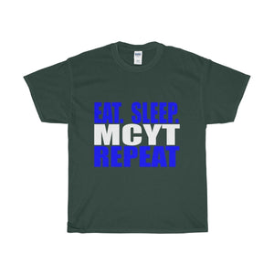 Organization (Mcyt) - Eat Sleep Mcyt Repeat - Unisex Heavy Cotton Tee Forest Green / S T-Shirt